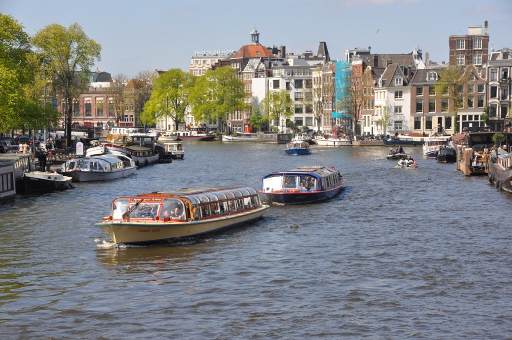Amsterdam in spring, copyright Jane Wooldridge 2014